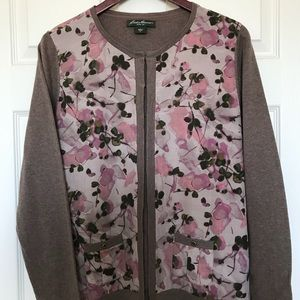 Multi fabric cardigan NWOT